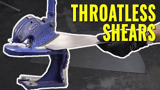 The BEST WAY to Cut Sheet Metal  - Eastwood Throatless Shear