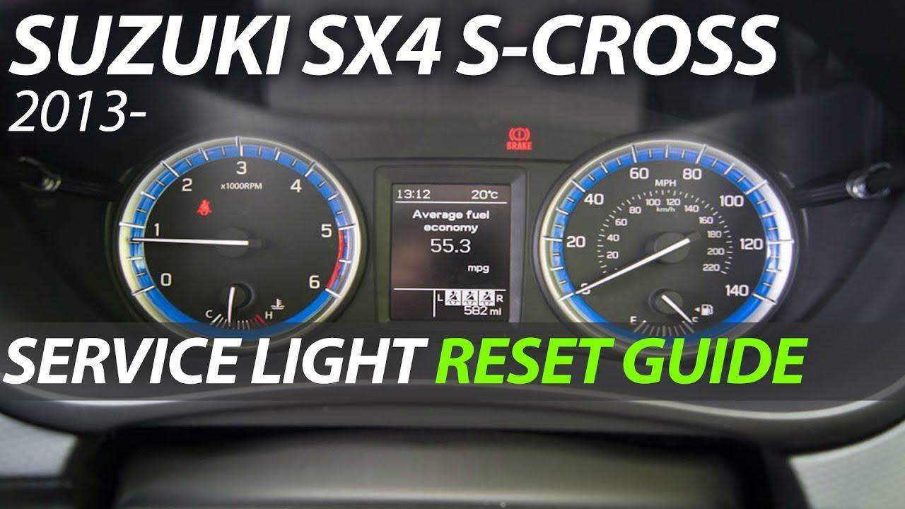Suzuki SX4 S-Cross - Service Light Reset Oil Light Maintenance light