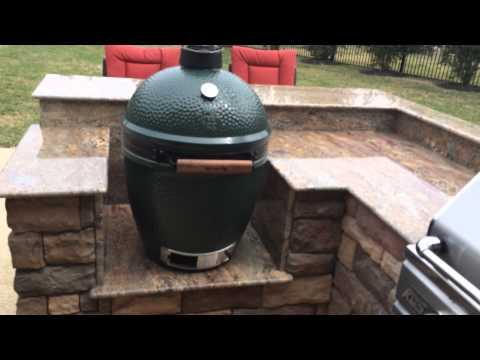Big Green Egg Built In Island - Houston Outdoor Kitchen