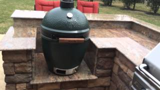 Big Green Egg Built In Island - Houston Outdoor Kitchen