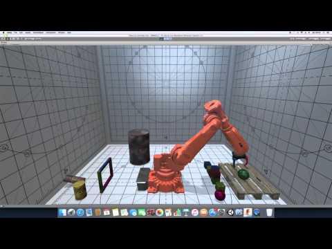 Mobile robot simulation built with Unity3D by Matt Blickem