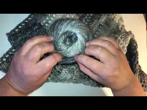 Silver Bells Crochet Shawl Wrap