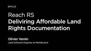 Delivering affordable land rights documentation with Reach RS | Live from Intergeo 2018