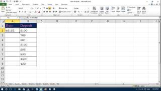 Date & Time Appearing as Number in Excel