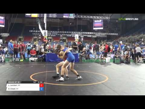 Cadet GR 120 Round of 32 - Logan Lambert (NC) vs. Brad Cheek (NY)