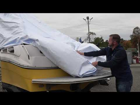 How to Remove and Fold the Transhield Wake Tower Cover for Re-use
