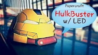 HulkBuster - Papercraft Part 1 (Head) w/ LED Lights
