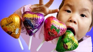 Heart Candies Finger Family of Sweets | Johny Johny Yes Papa | Learn Color