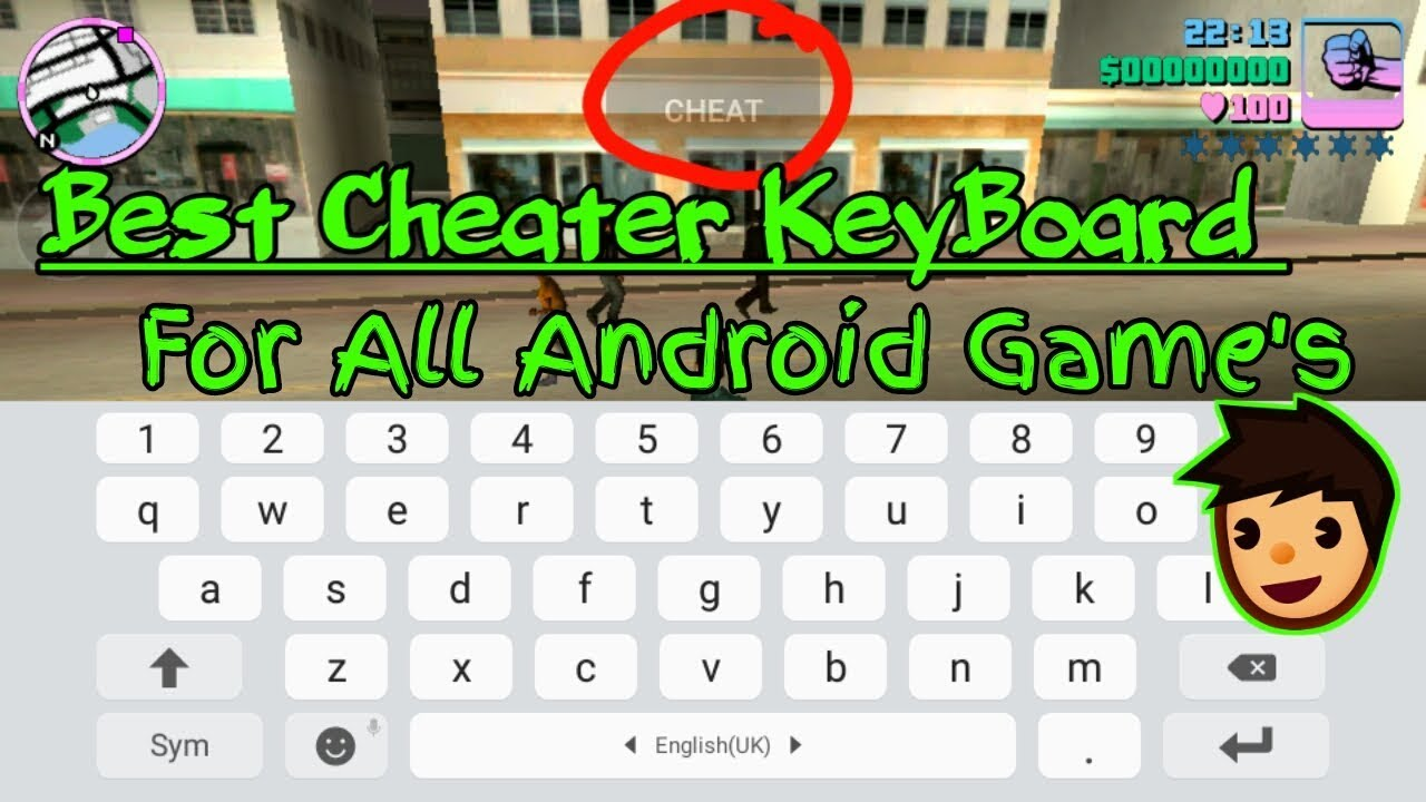 How to Use Game Keyboard for Typing Cheat Code for all Android Games and  For All Android Device