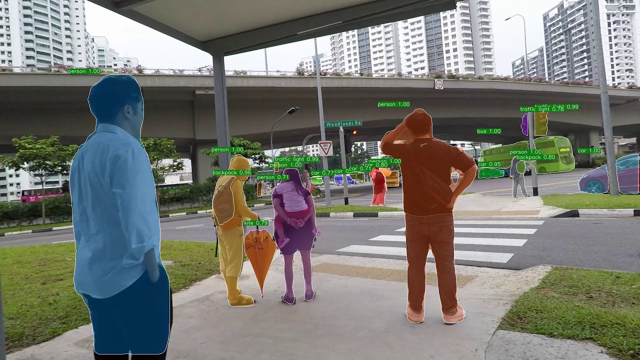 Object detection along Singapore Park Connector Network using Mask R-CNN