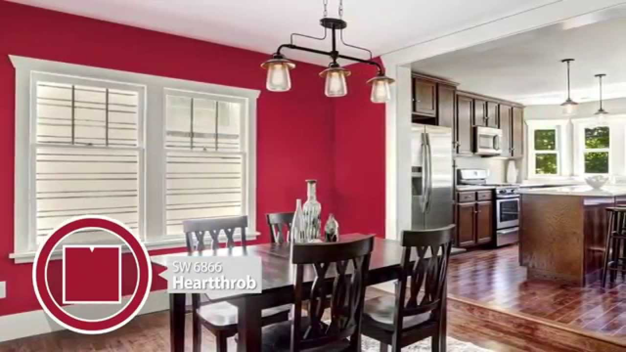 Dining room color ideas sherwin williams youtube - Red dining room color ideas ...