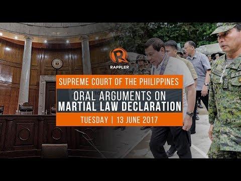 LIVE AUDIO: SC oral arguments on Mindanao martial law