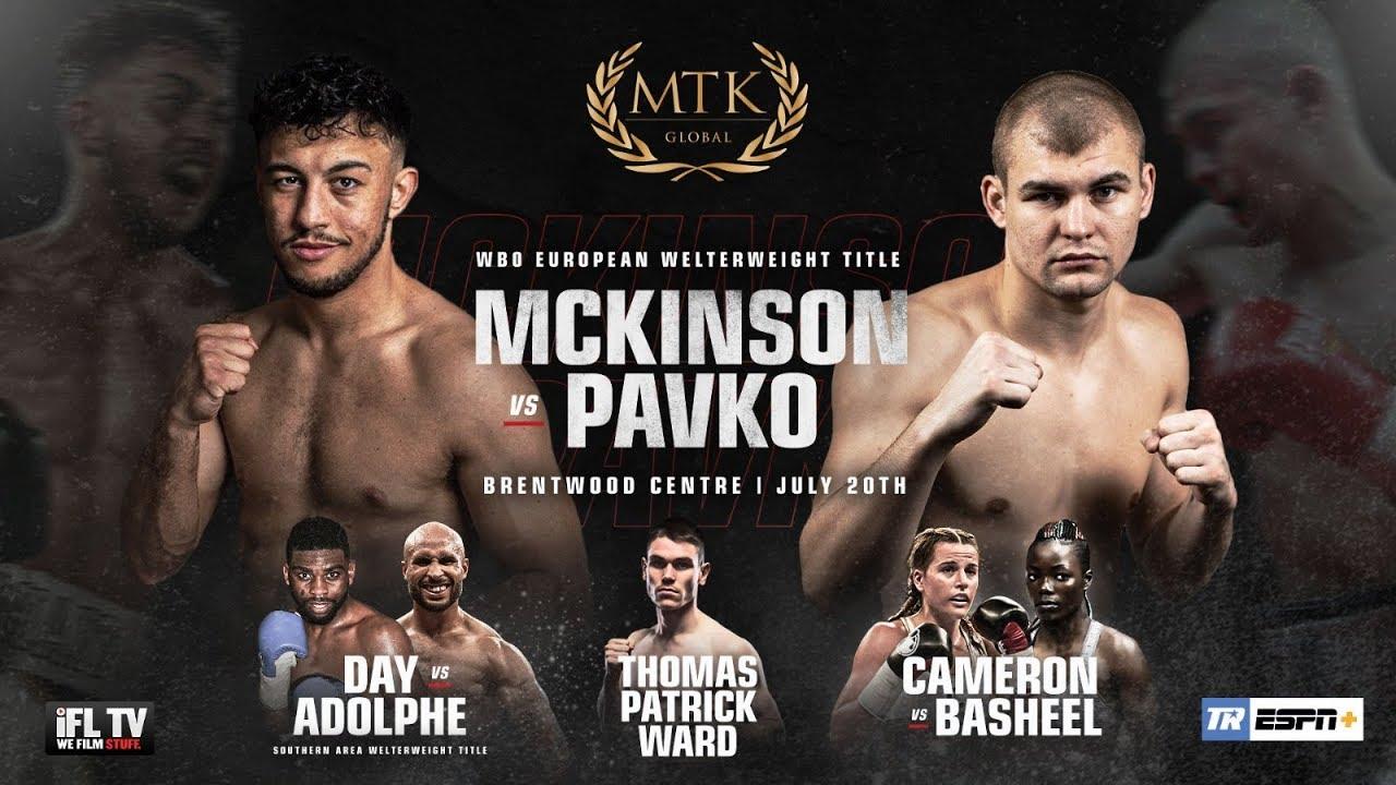 WATCH LIVE: Michael McKinson vs Evgeny Pavko this Saturday