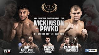 LIVE PROFESSIONAL BOXING! - MTK GLOBAL PRESENTS ... 'MTK FIGHT NIGHT' FROM BRENTWOOD ARENA, ESSEX thumbnail
