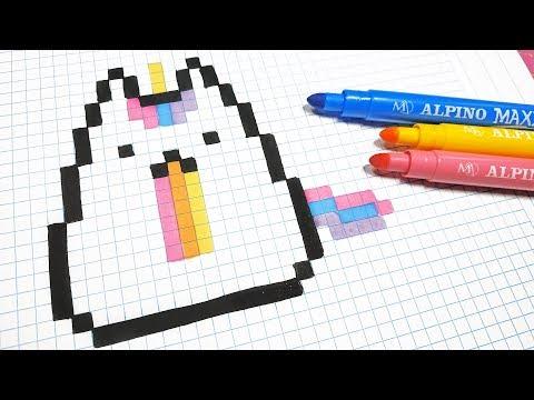 Handmade Pixel Art How To Draw Kawaii Unicorn Cat