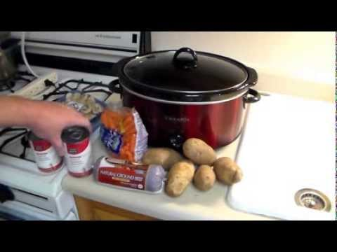 Crock-Pot Recipe: Hamburger, Potatoes, Carrots And Mushrooms