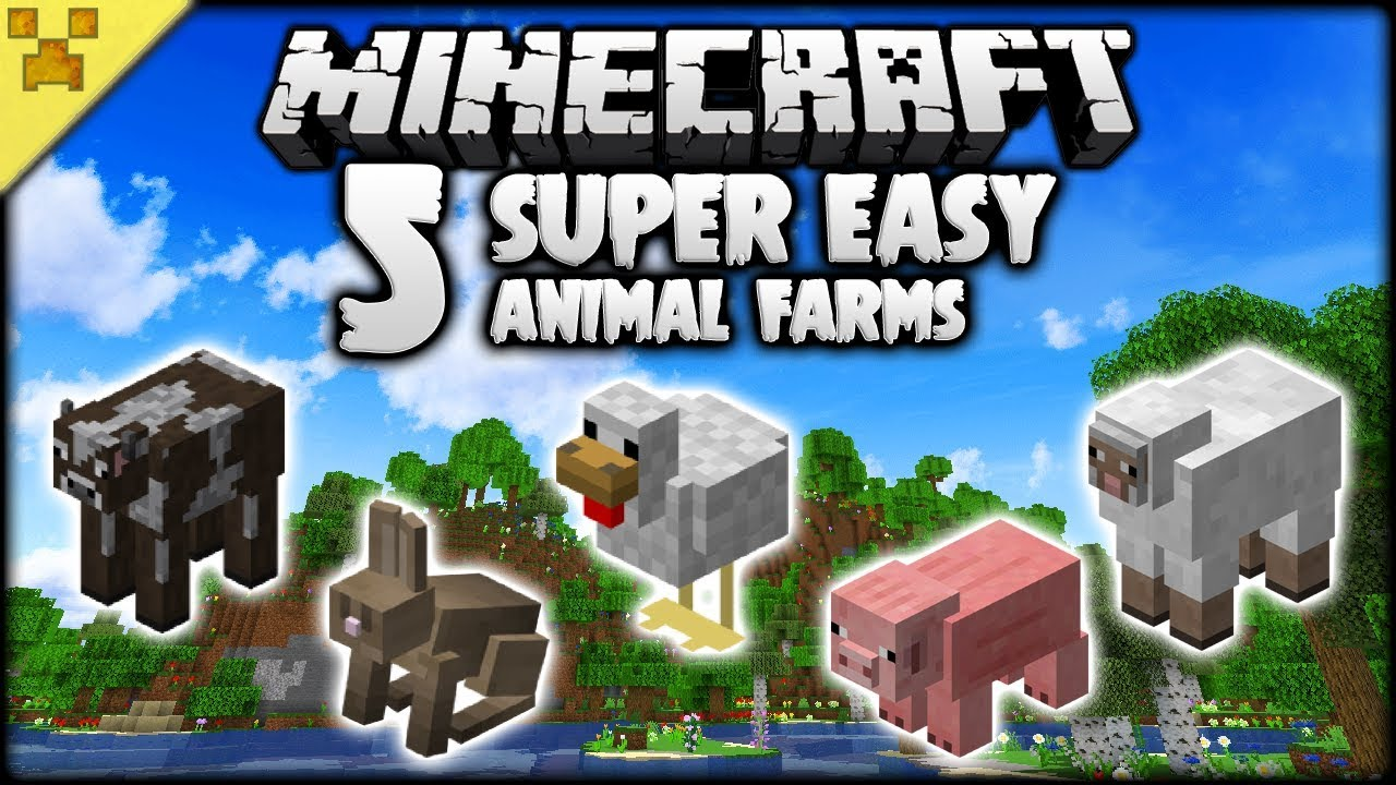 5 Super Easy Minecraft Animal Farms You Need Youtube