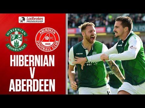 Hibernian 1-1 Aberdeen   Maclaren's late equaliser salvaged a point   Ladbrokes Premiership