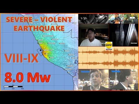 Terremoto De Pisco E Ica, Perú De 2007: En Tiempo Real. Earthquake In Peru