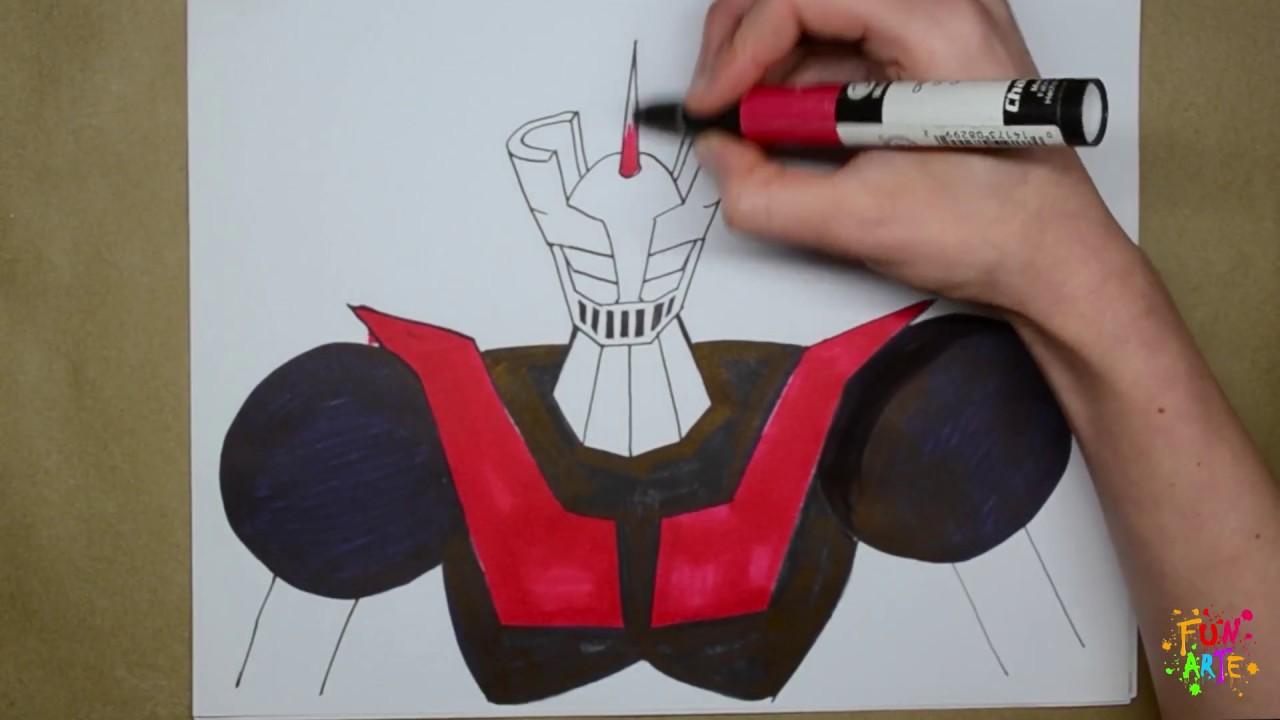 Cómo Dibujar A A Mazinger Z How To Draw Mazinger Z
