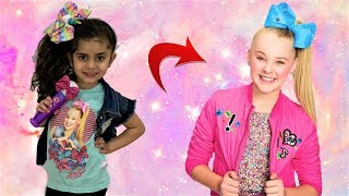 Sally Transforms into JoJo Siwa in Real Life videos!!