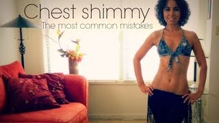 Belly dance chest shimmy: the most common mistakes