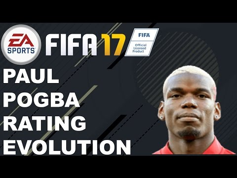 FIFA 17 - Paul Pogba Rating History