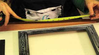 How To Make A Serving Tray Using A Picture Frame : Picture Frame Crafts