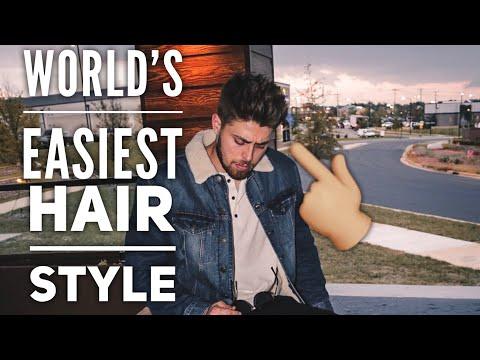 MINIMAL EFFORT MENS HAIRSTYLE | Easy Men's Hairstyle, By Vilain Wax Zero