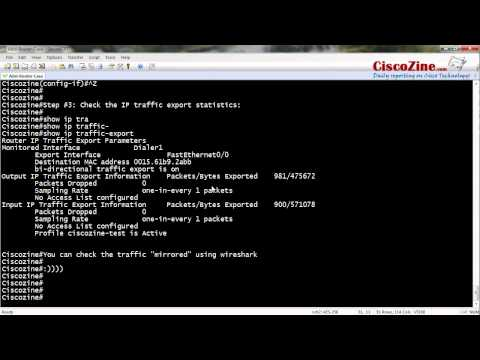 IP traffic export: how to mirror traffic on a router | CiscoZine