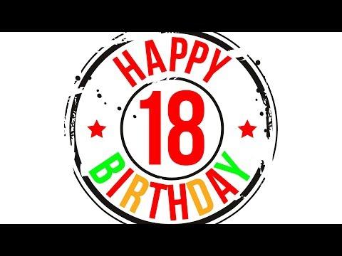 Поздравление! С совершеннолетием! С 18-летием! С днём рождения!