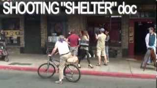 Shelter Doc crew filming on 4th Ave