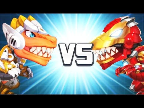 Dinobot: Tyrannosaurus Vs Iron T-Rex + Team Fight   Eftsei Gaming