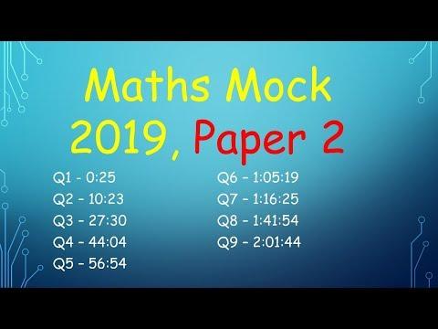Leaving Cert Higher Level Maths Mock 2019, Paper 2 (DEB