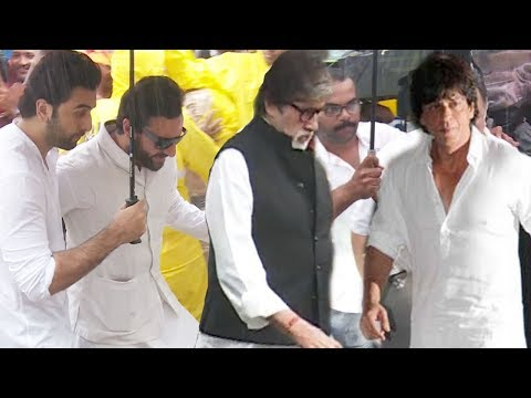 Bollywood Celebs At Shashi Kapoor's Final Rites Ceremony FULL Video