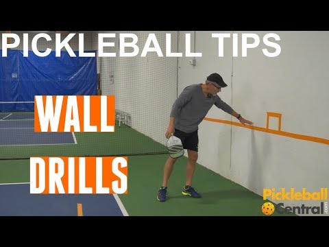 Pickleball Solo Wall Drills