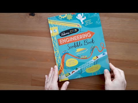 Engineering scribble book - Usborne