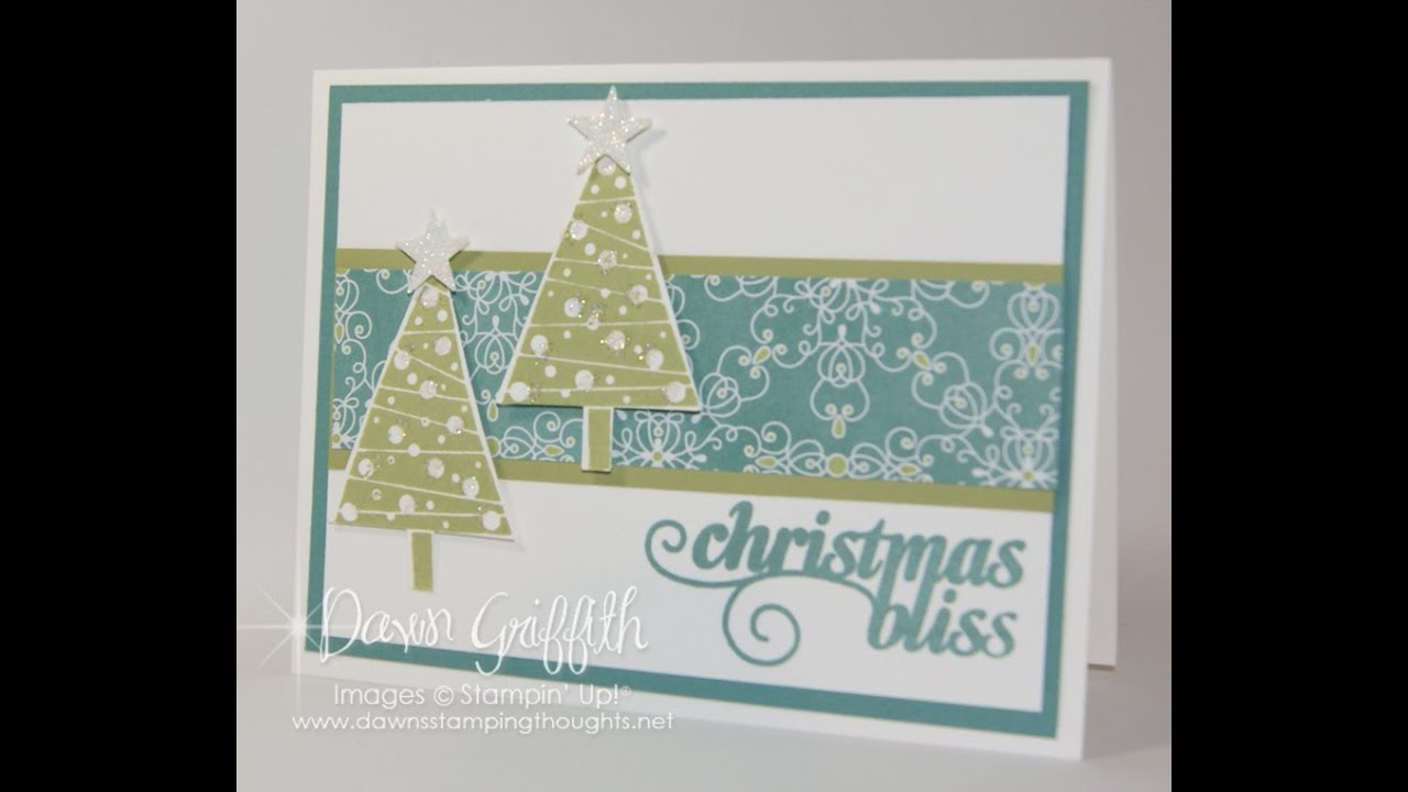 Christmas Bliss card with Dawn - YouTube