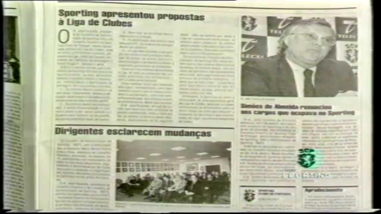 Saída de Simões de Almeida do Sporting em 21/01/1999