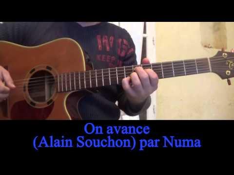 On avance (Alain Souchon) reprise à la guitare