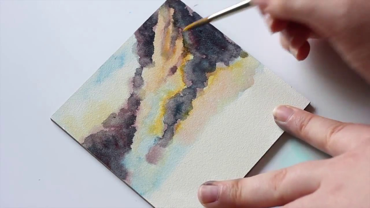Watercolor On Aqua Board Youtube