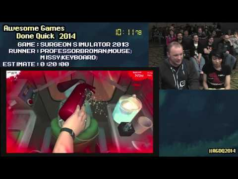 Surgeon Simulator 2013 :: Live Co-op SPEED RUN by ProfessorBroman & Missy