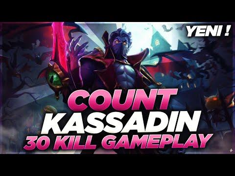 COUNT KASSADIN | YENİ SKİN OP ! | YİNE HASAR TABLOSU KIRIYORUZ | 30 KILL GAMEPLAY | KassadinsCreed