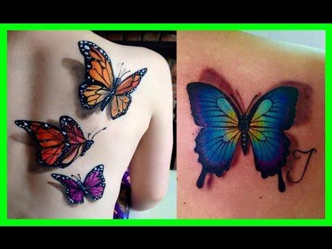 Los Mejores Tatuajes De Mariposas Para Mujeres Youtube