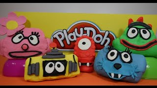 Yo Gabba Gabba Play Doh Surprise Eggs with Yo Gabba Gabba Toys and Counting