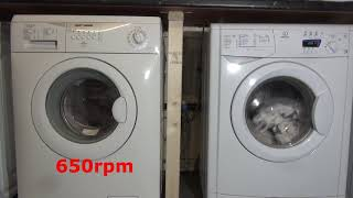 Spin Race : Tricity bendix vs Indesit delicate spin