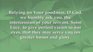 Prayer to St. Lucy
