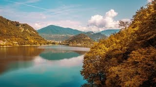 Beautiful timelapse to the Corlo lake by day | Stock Footage