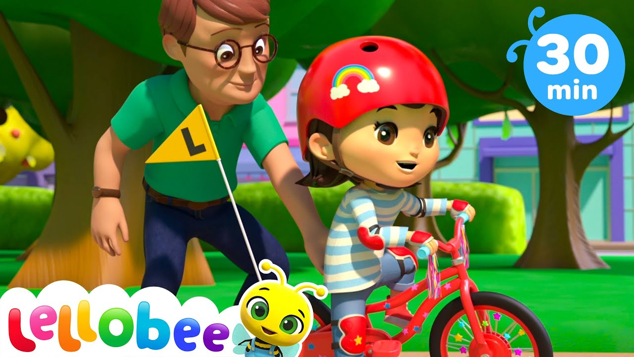 Riding a Bike Song! | @Lellobee City Farm - Cartoons & Kids Songs | Learning Videos For Kids