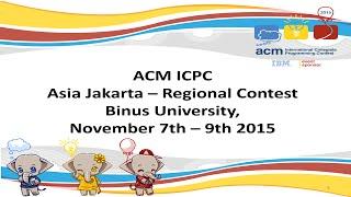 the 2015 acm icpc regional asia jakarta contest